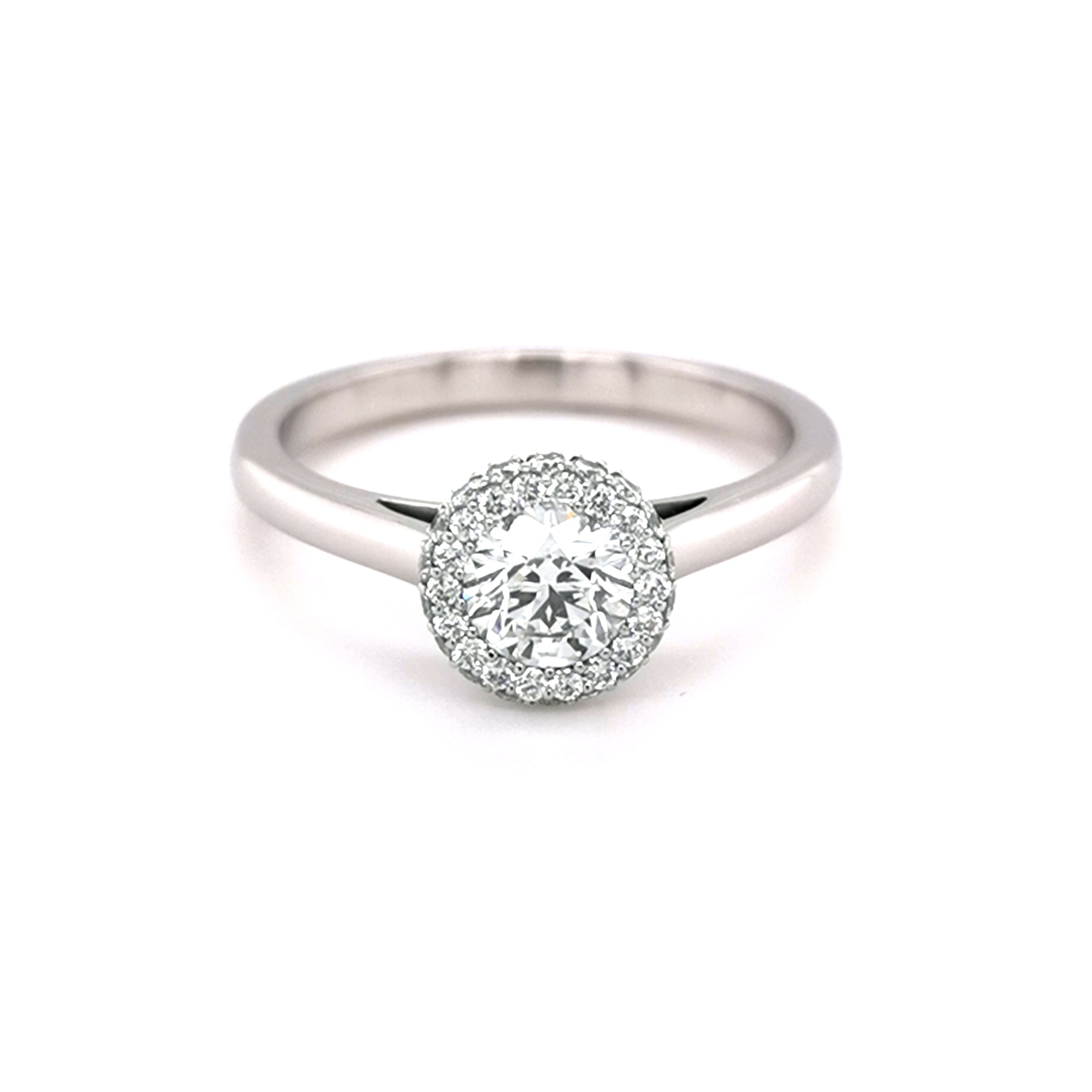 Platinum 0.50ct Diamond Halo Ring - Sonny's Jewellers