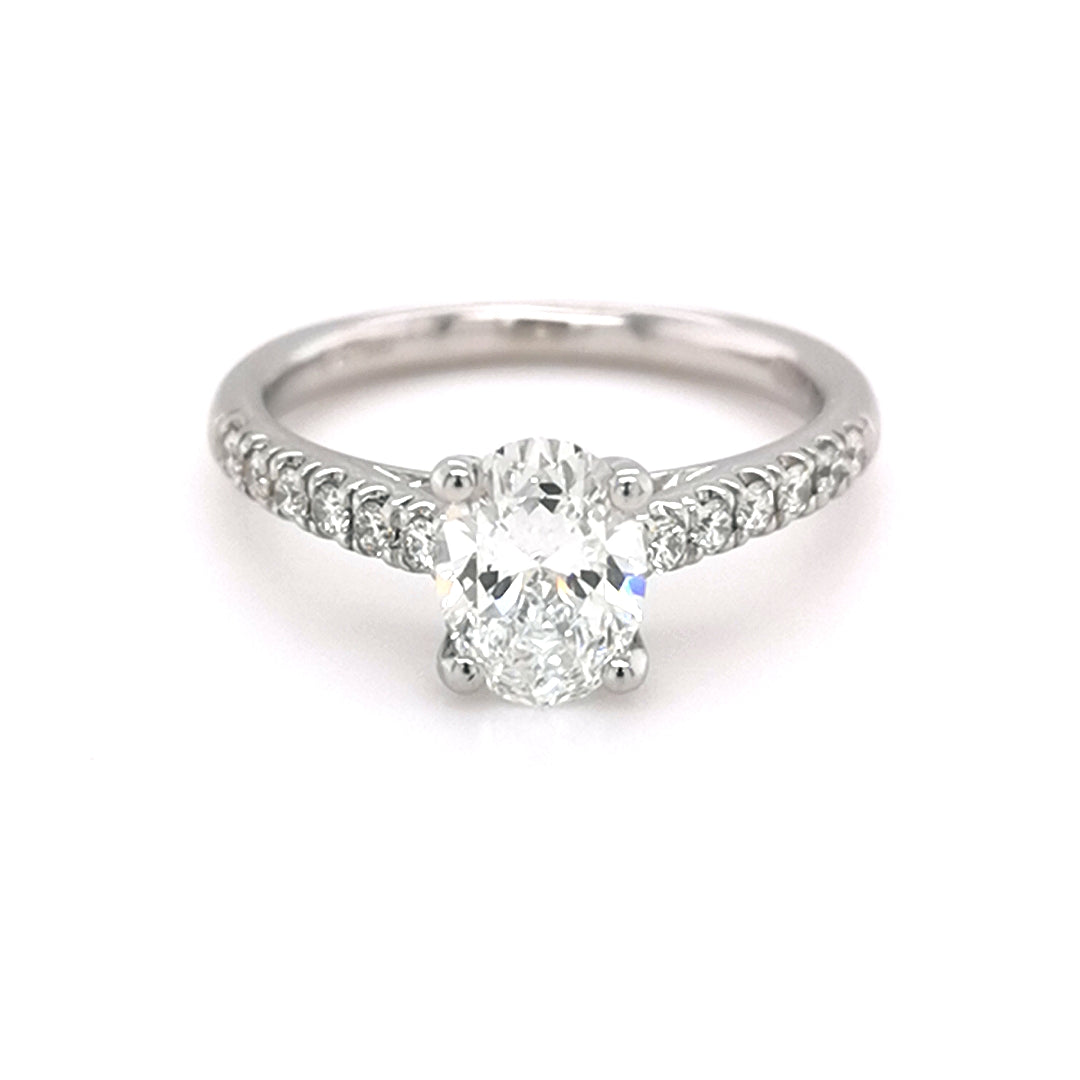 Platinum 0.98ct Oval Diamond Solitaire Ring - Sonny's Jewellers