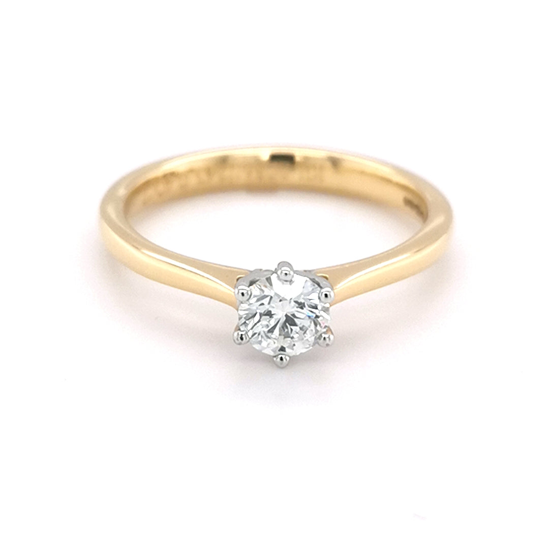 18ct Yellow Gold 0.40ct Round Brilliant Diamond Ring - Sonny's Jewellers
