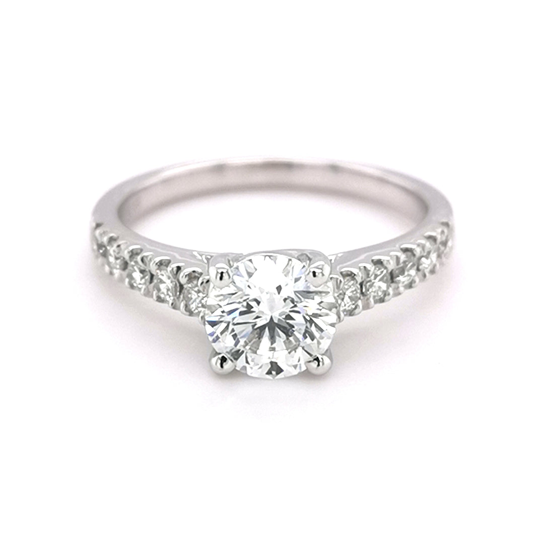 18ct White Gold Round Brilliant Cut 1.29ct Diamond Ring - Sonny's Jewellers