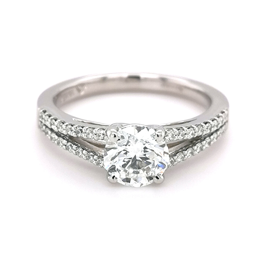 Platinum Round Brilliant Cut 1.20ct Diamond Ring