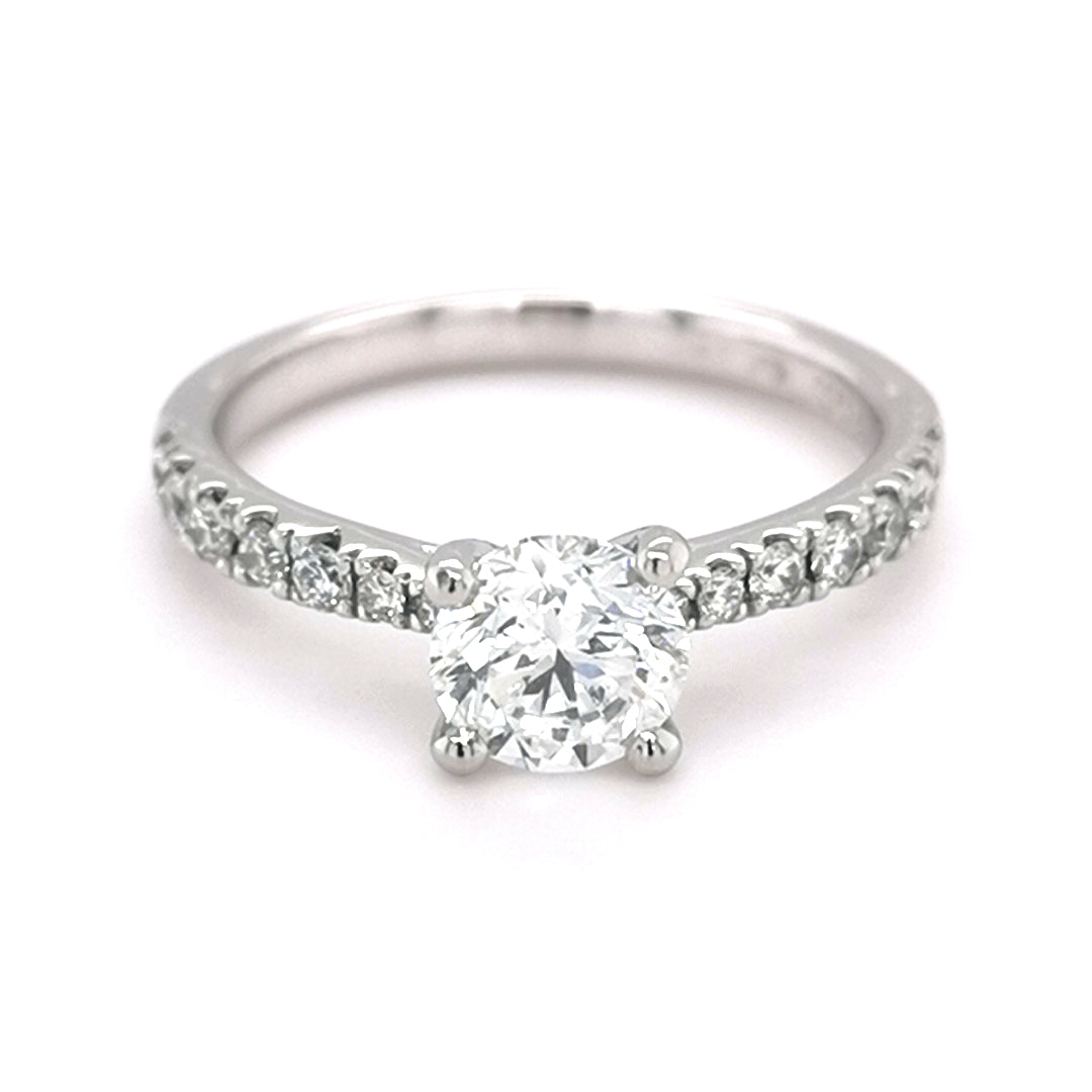 Platinum 0.90ct Round Brilliant Cut Diamond Ring - Sonny's Jewellers