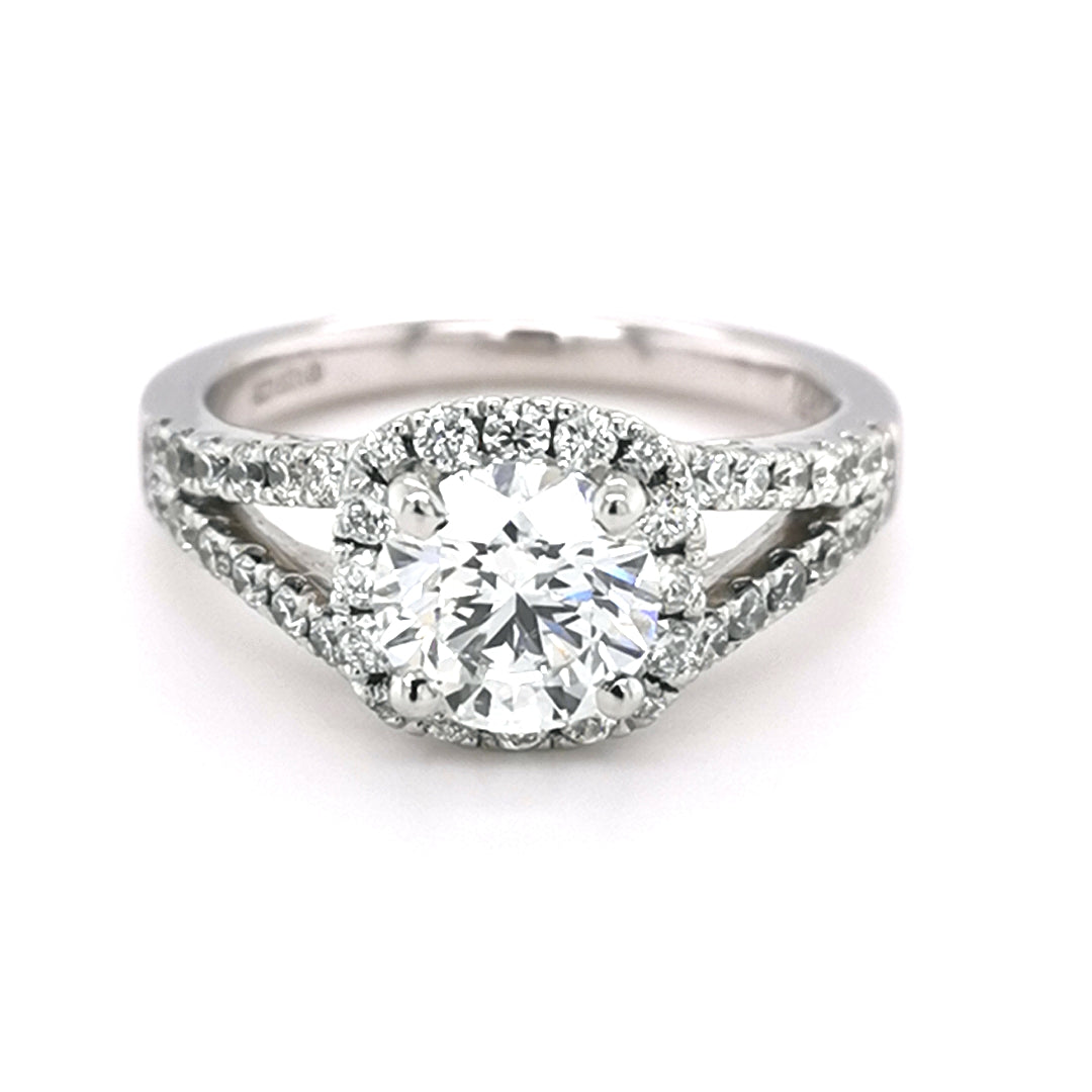 Platinum 1.20ct Round Brilliant Cut Diamond Ring - Sonny's Jewellers