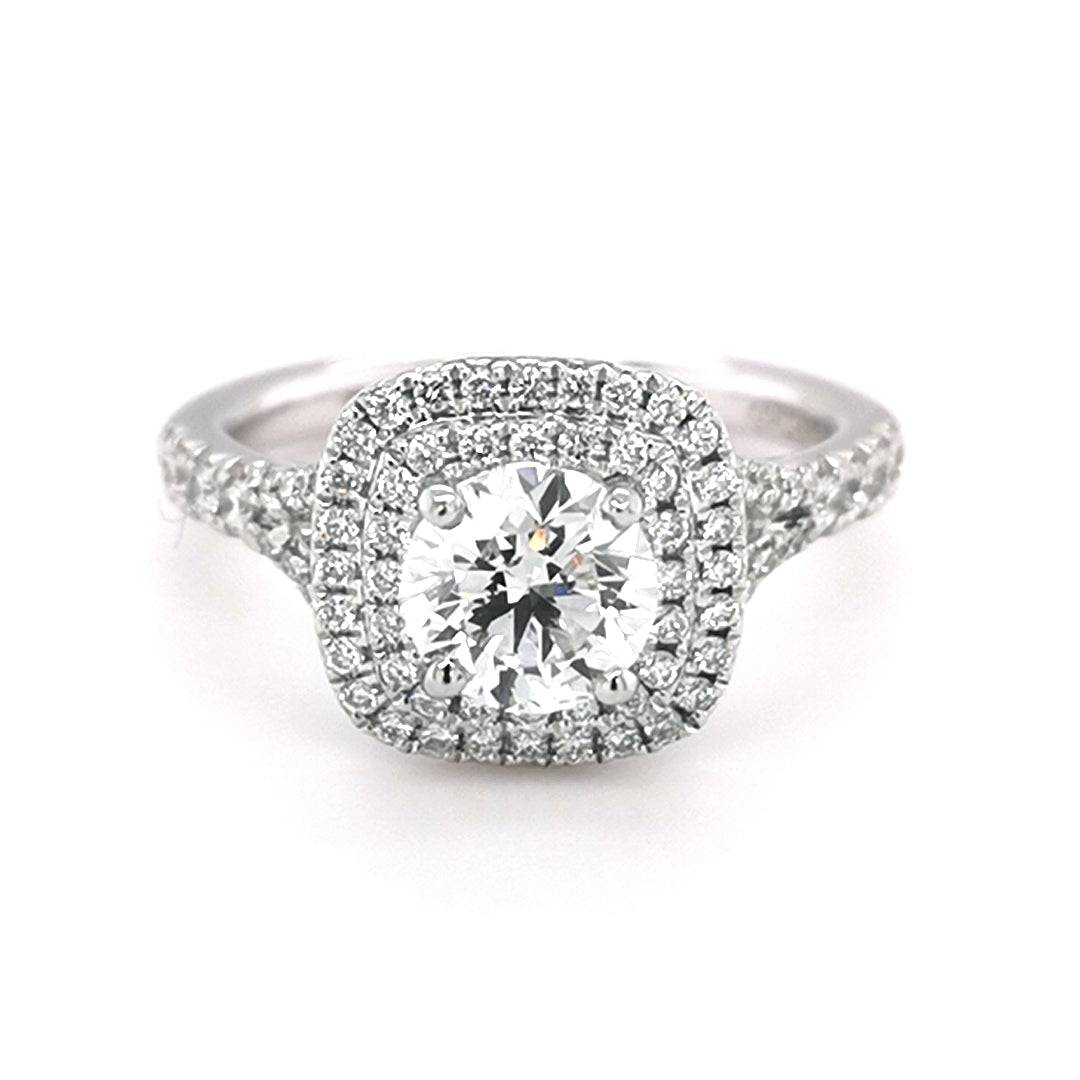 Platinum 0.91ct Round Brilliant Cut Diamond Ring - Sonny's Jewellers