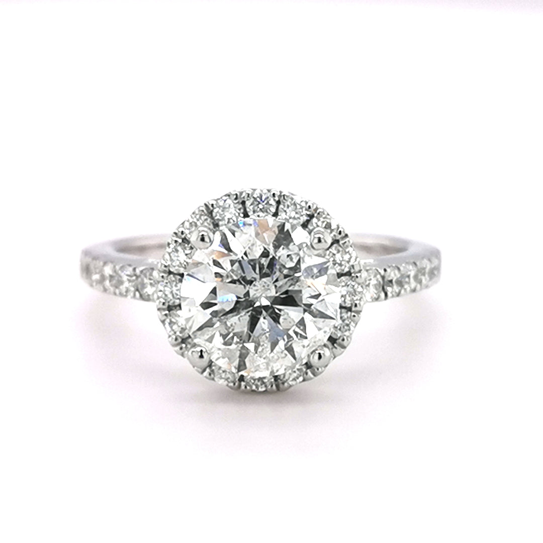Platinum 2.13ct Round Brilliant Cut Diamond Ring - Sonny's Jewellers