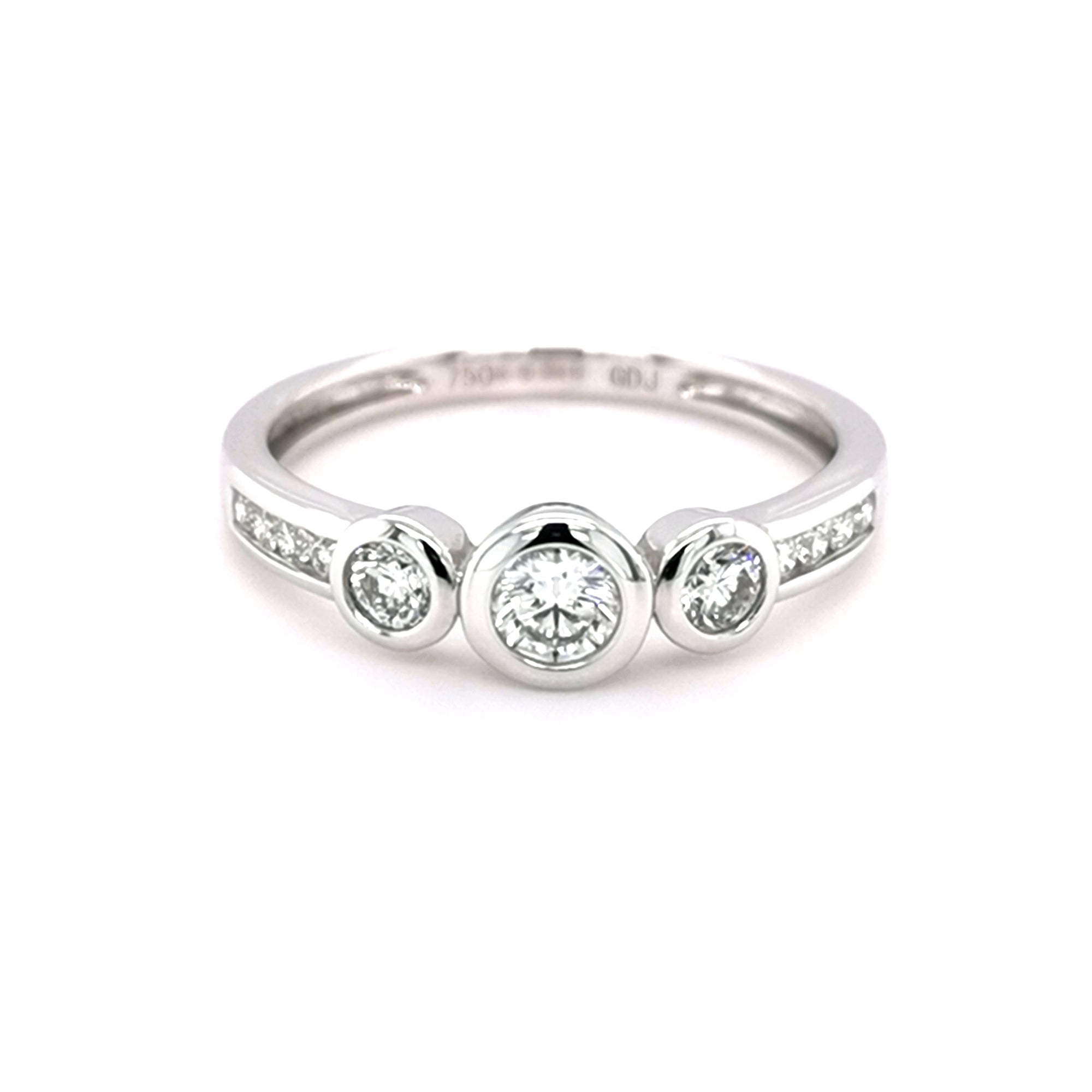 18ct White Gold 3 Stone Ring - Sonny's