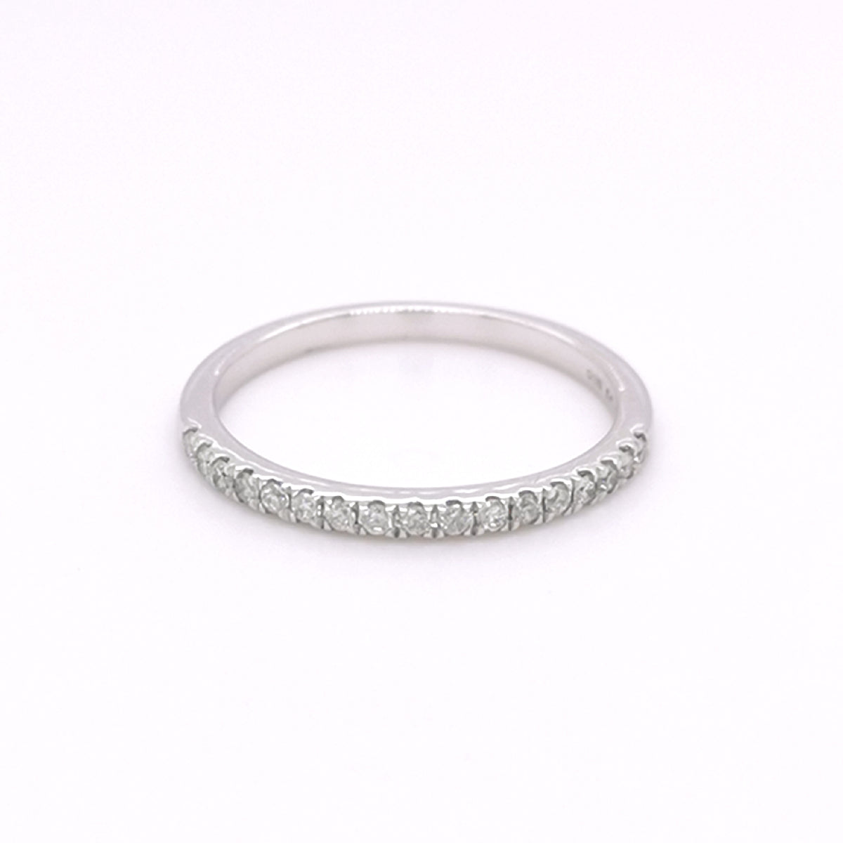 9ct White Gold 0.20ct Diamond Set Half Eternity Ring