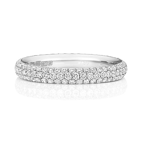 Platinum Diamond Set Full Eternity Ring