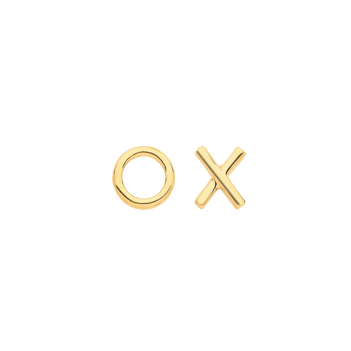 9ct Yellow Gold XO Stud Earrings