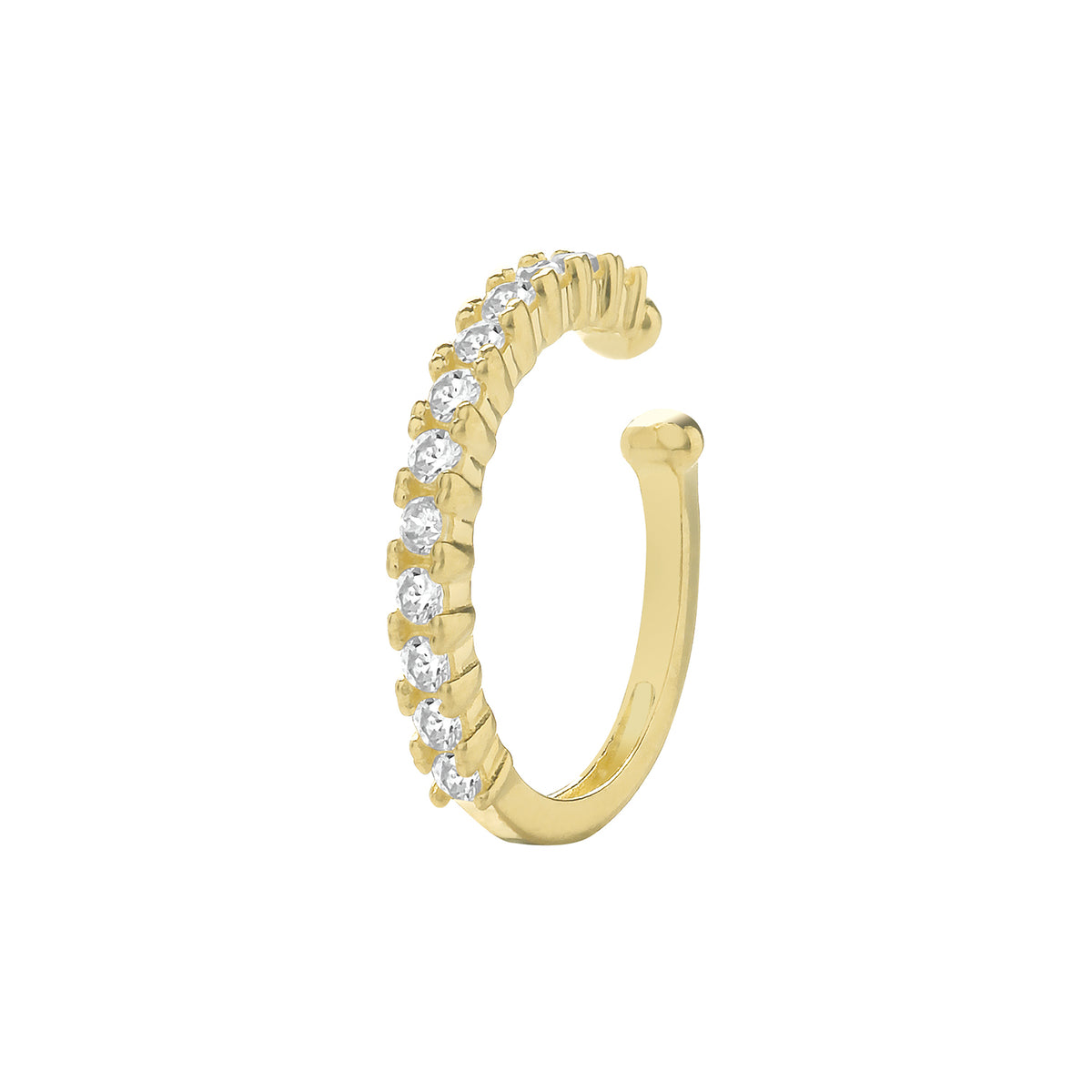 9ct Yellow Gold CZ Ear Cartilage Cuff