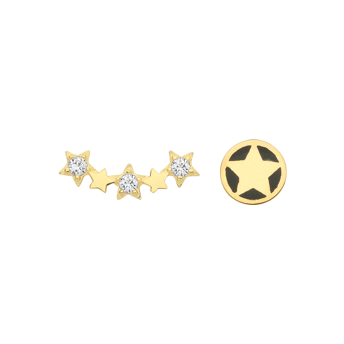 9ct Yellow Gold CZ Constellation Stud Earrings