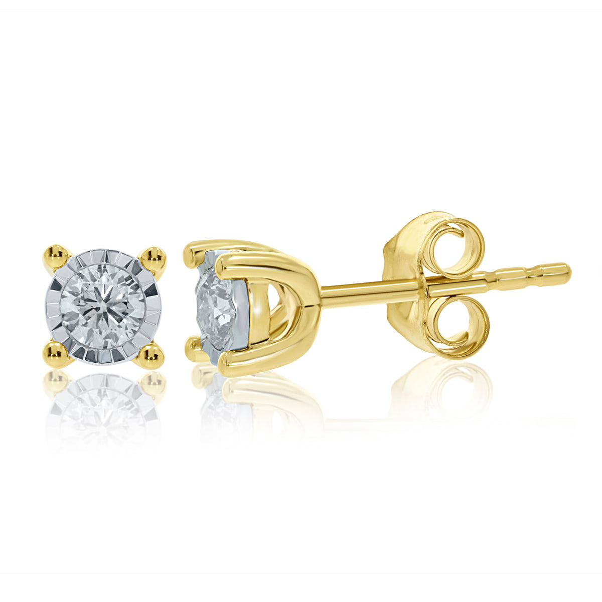 9ct Yellow Gold 0.33ct Diamond Stud Earrings