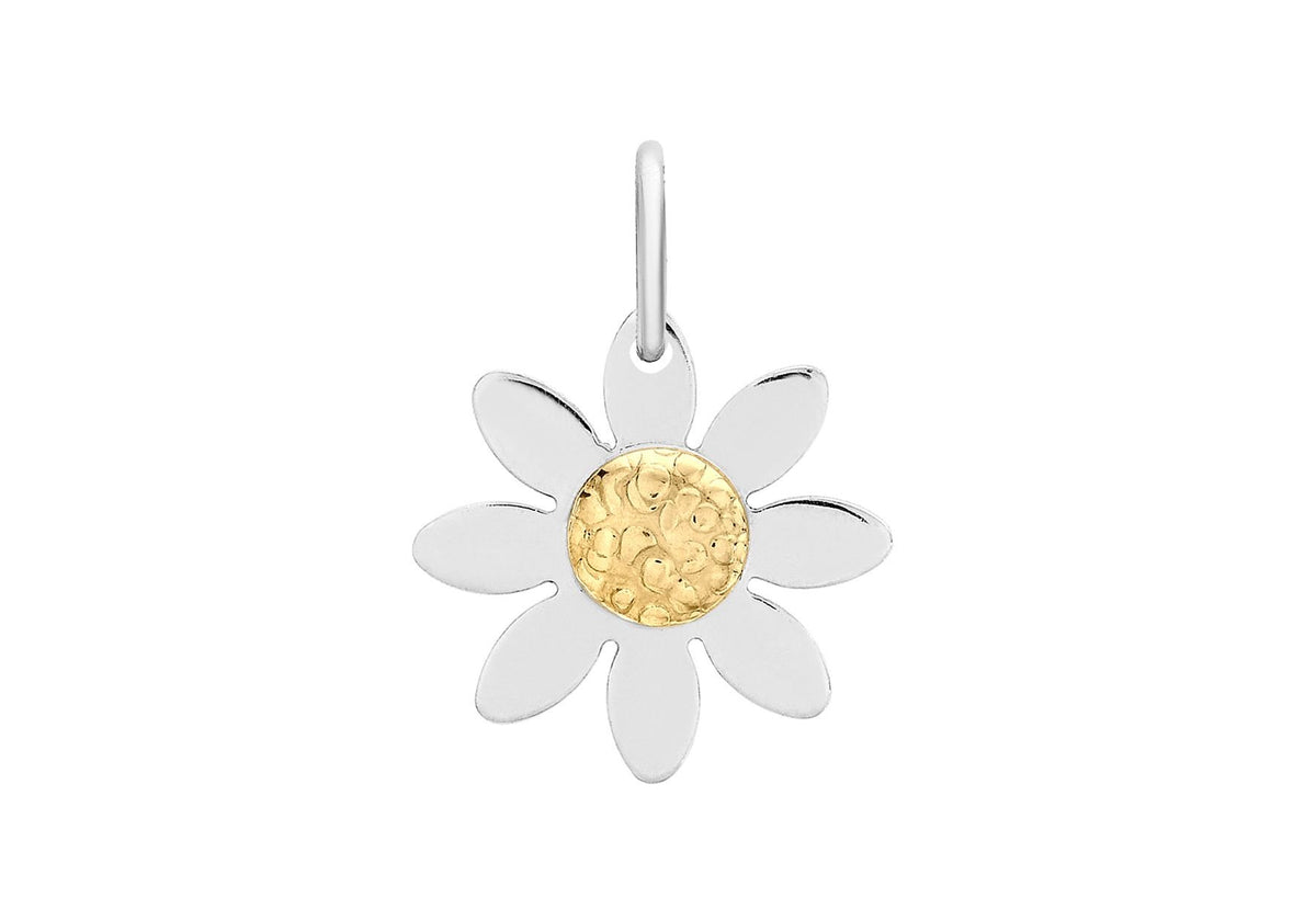 9ct Yellow and White Daisy Pendant