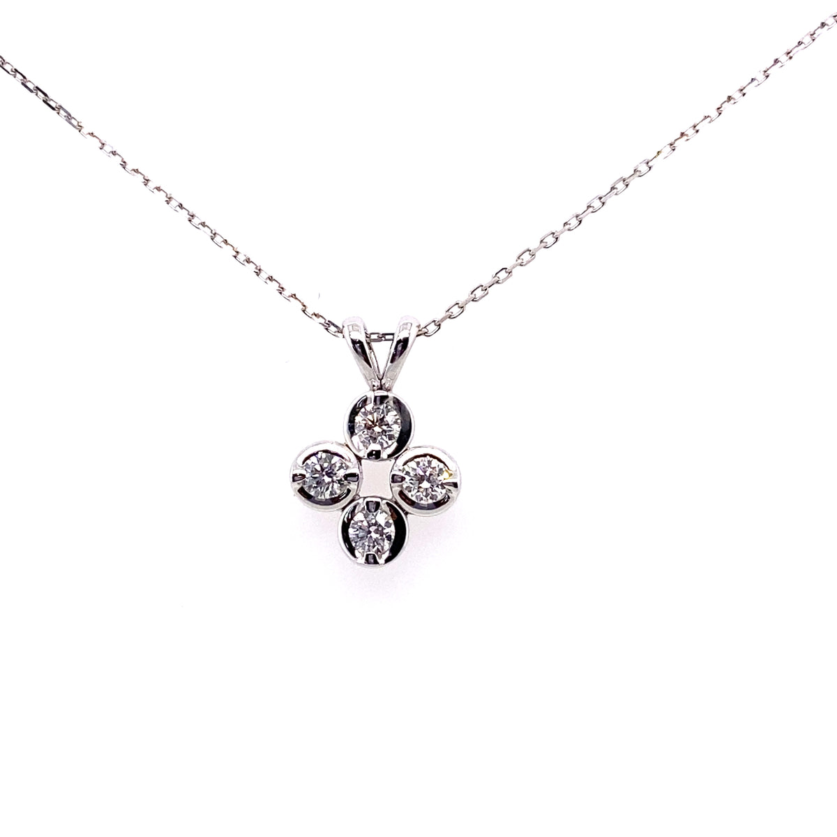 18ct White Gold 0.50ct Diamond Set Pendant