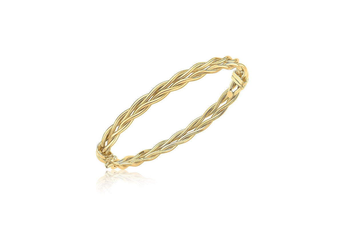 9ct Yellow Gold Double Twist Bangle