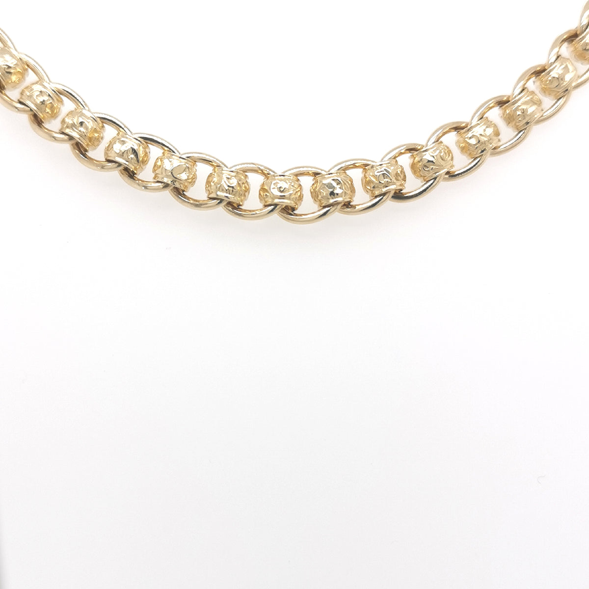 9ct Yellow Gold Roller Ball Bracelet