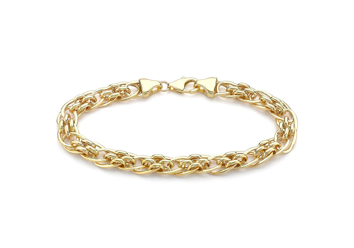 9ct Yellow Goold Large-Link Panther Chain Bracelet