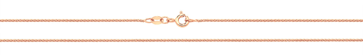 9ct Rose Gold Wheat Style Chain 22''