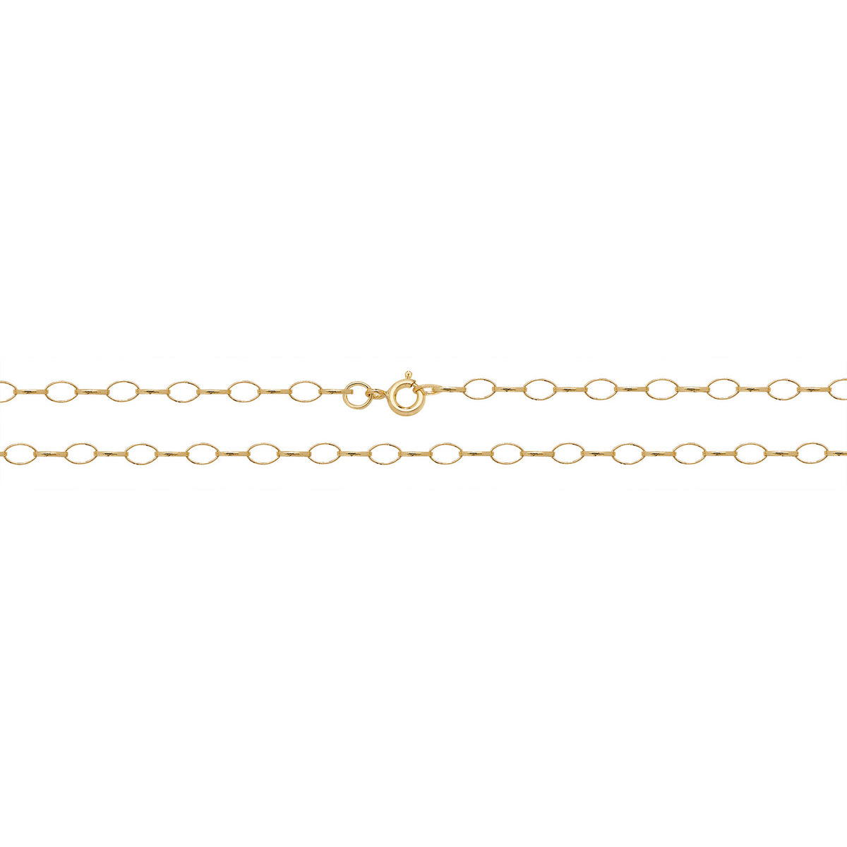 9ct Yellow Gold Oval Belcher Chain 18''