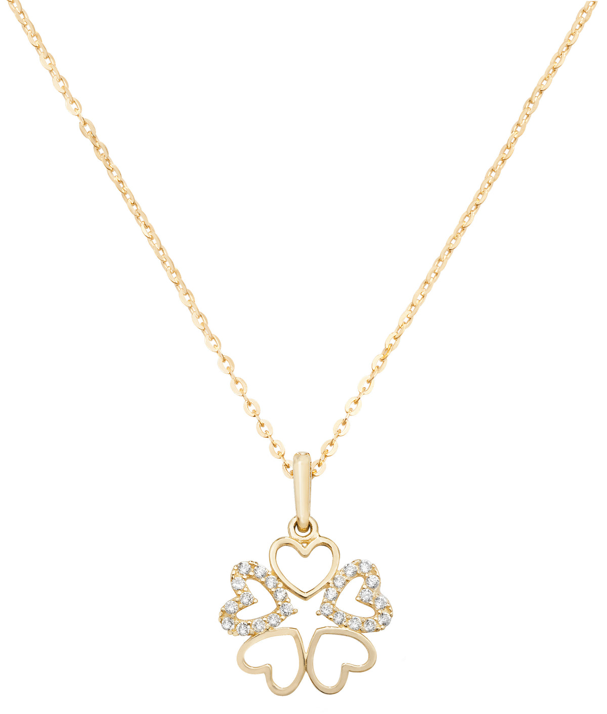 9ct Yellow Gold Cubic Zirconia Set Neclace