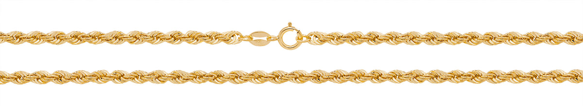 "9ct Yellow Gold 16"" Rope Chain"