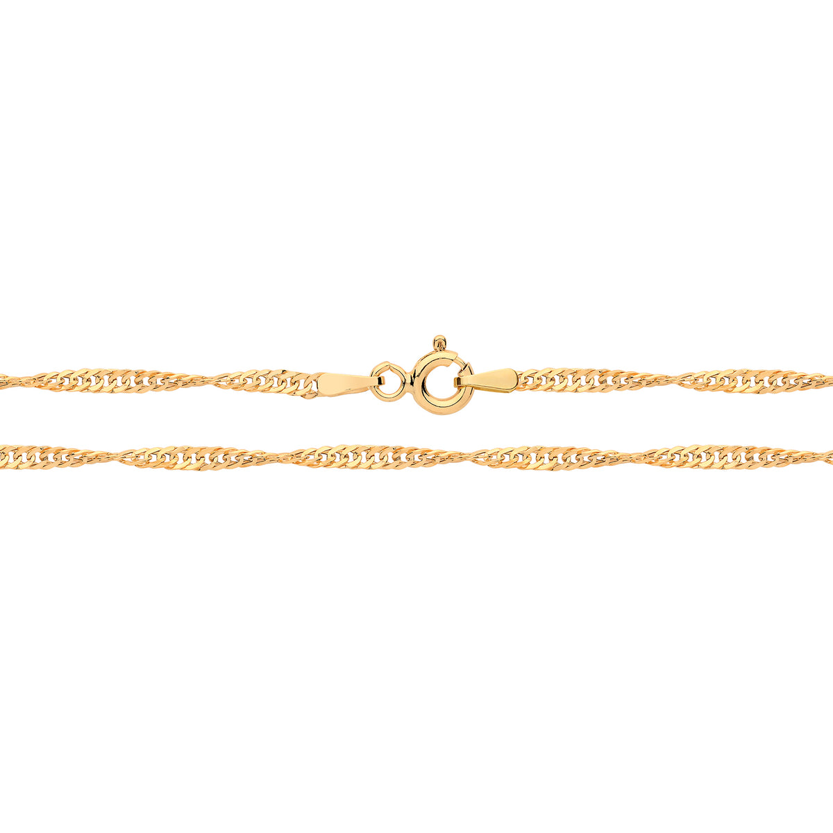"9ct Yellow Gold 22"" Singapore Chain"