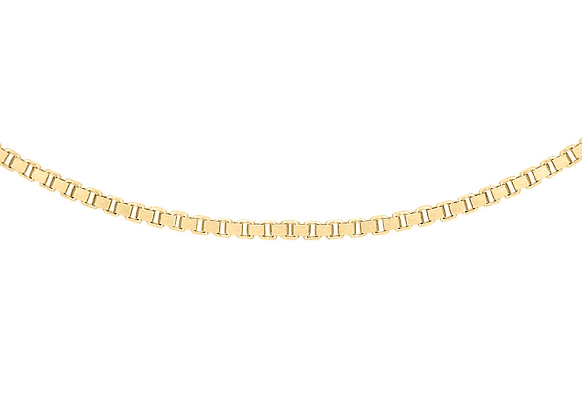 9ct Yellow Gold Venetian Box Chain 16""