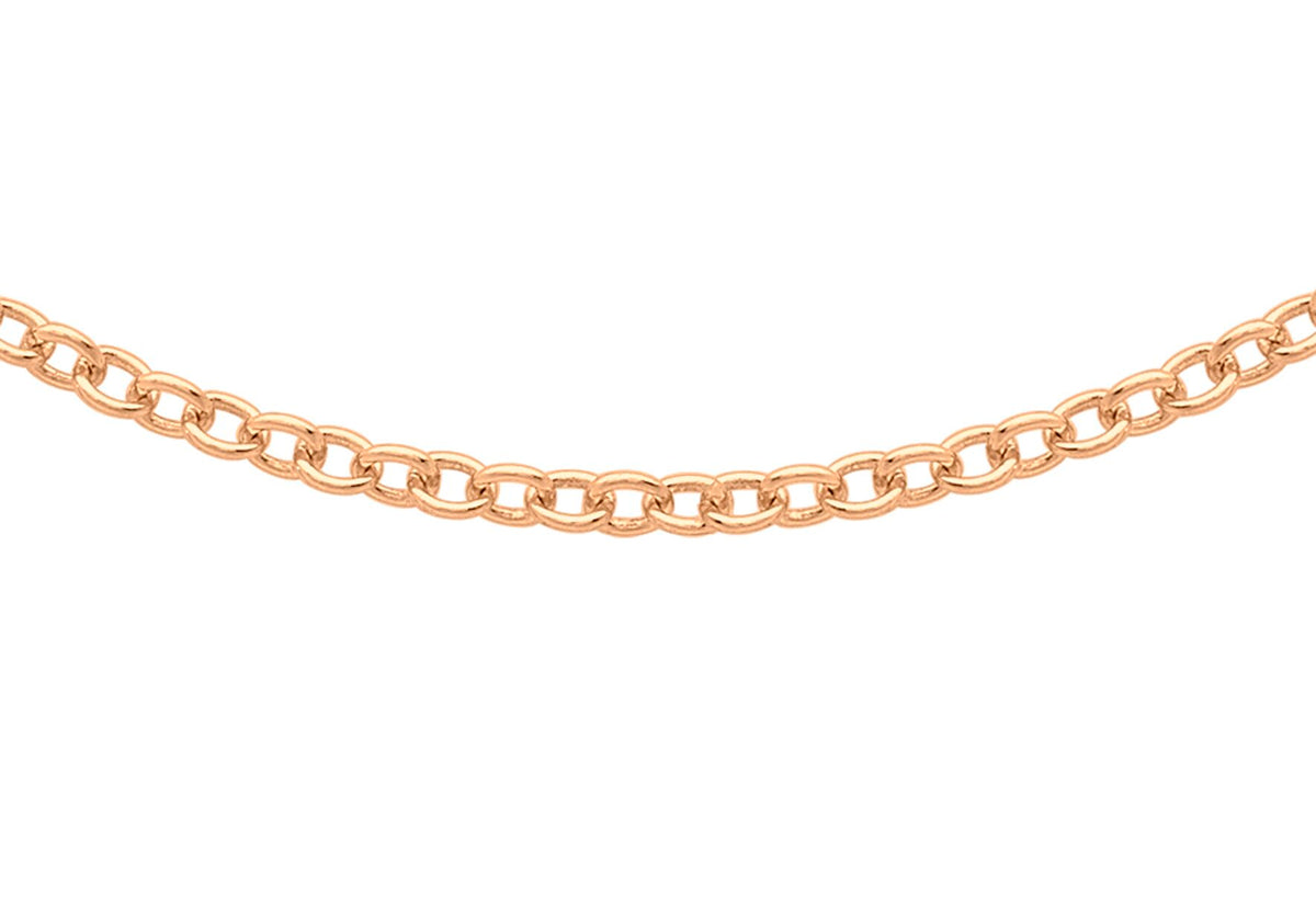 9ct Rose Gold Trace Chain 16""