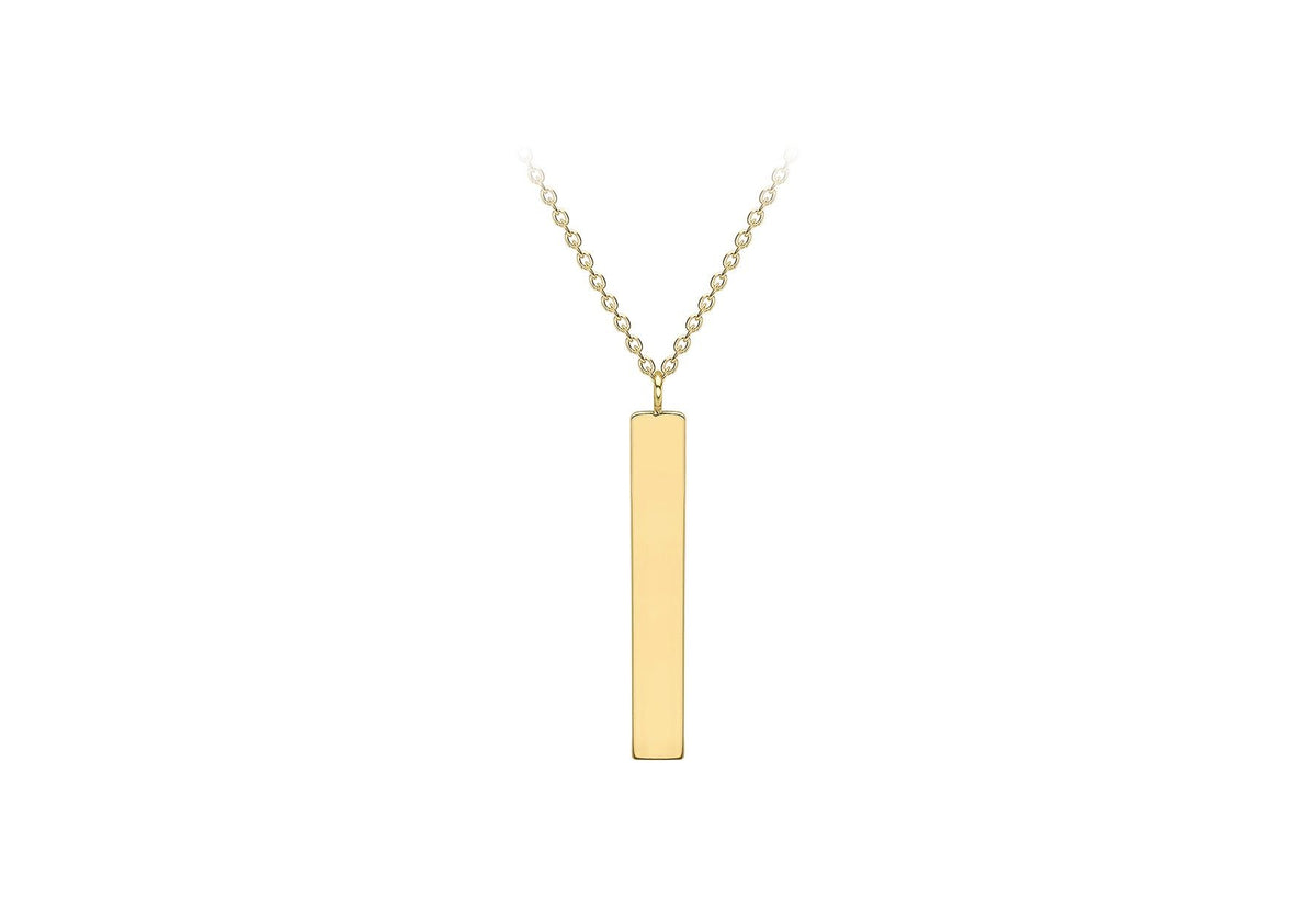 9ct Yellow Gold Vertical Bar and Chain