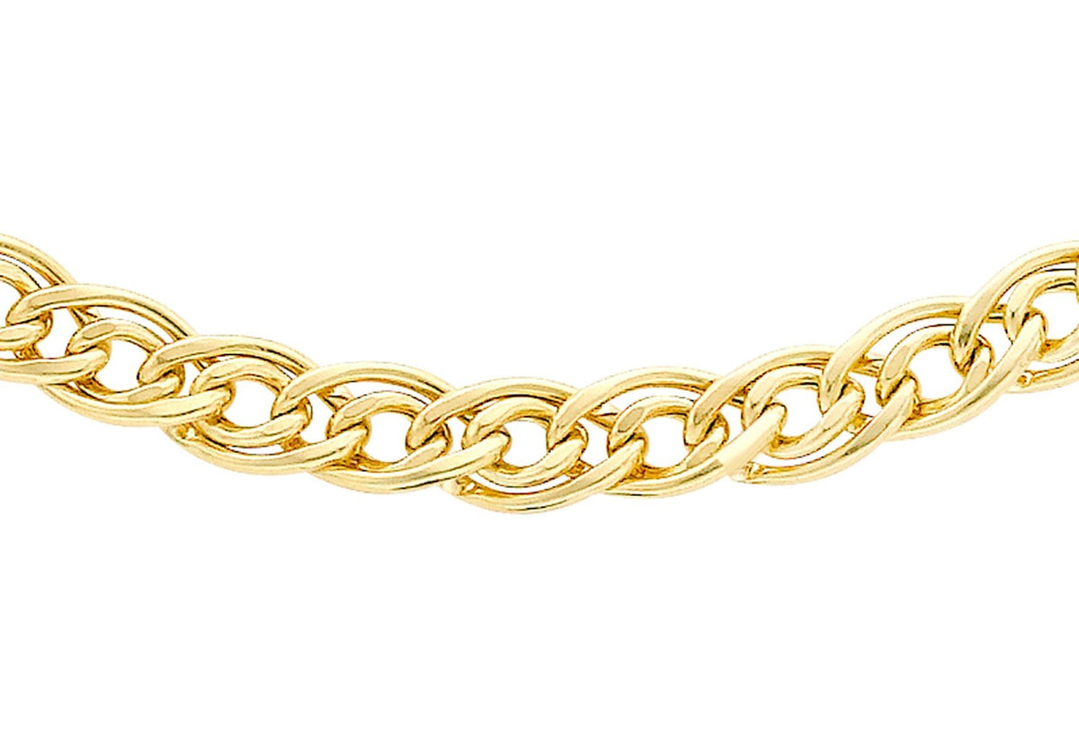9ct Semi Solid Double Curb Chain 20""