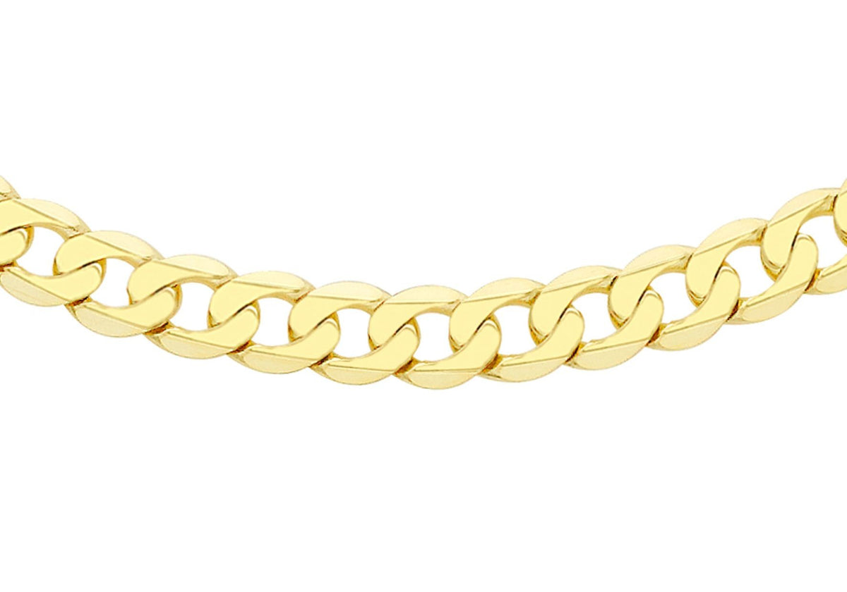 9ct Yellow Gold Curb Chain 20""