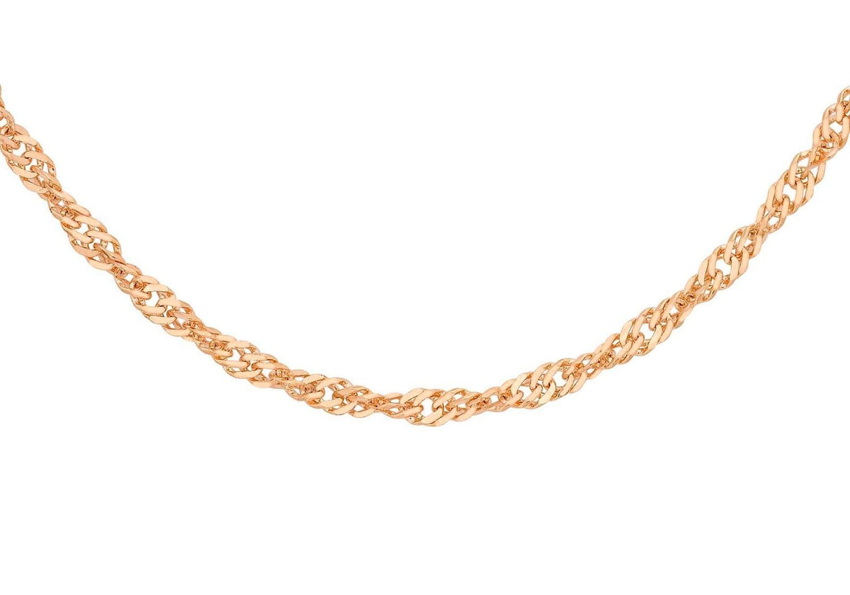 9ct Rose Gold Twist Curb Chain 20""