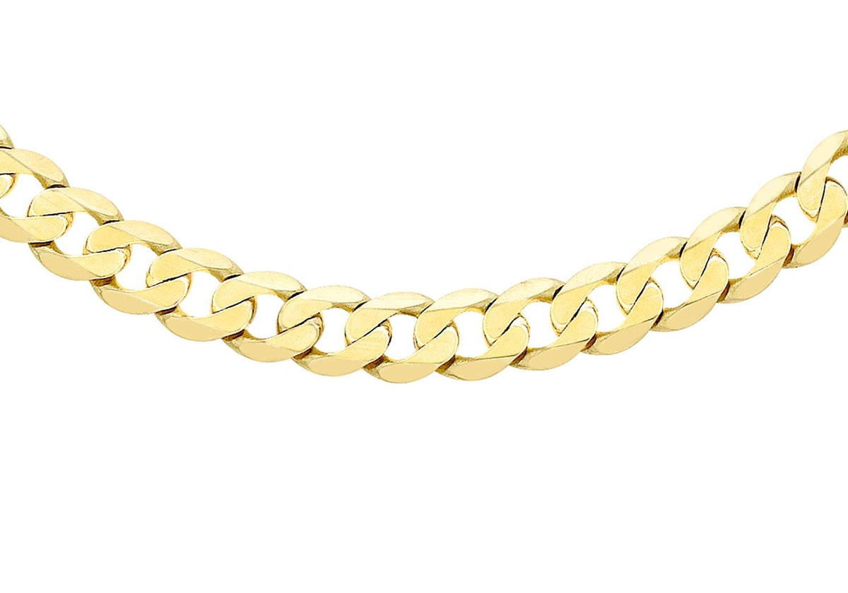 9ct Yellow Gold Curb Chain 24""