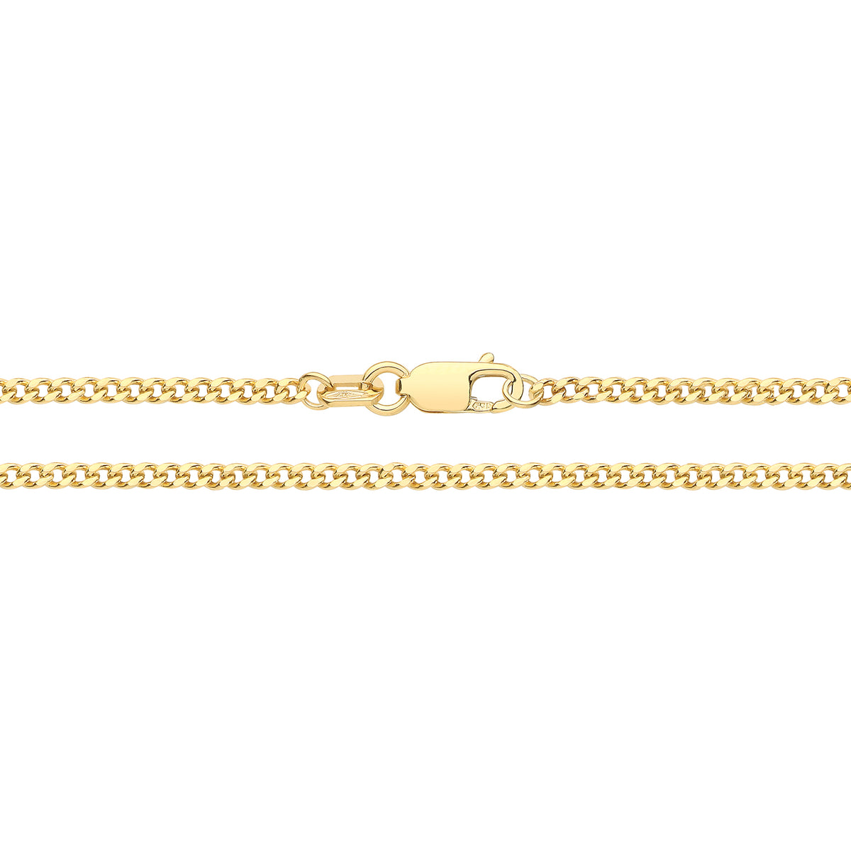 9ct Yellow Gold Close Curb Chain 22""