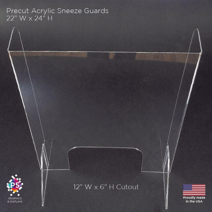 Sneeze Guard, Nail Salon or General use Free Standing, Acrylic, 22