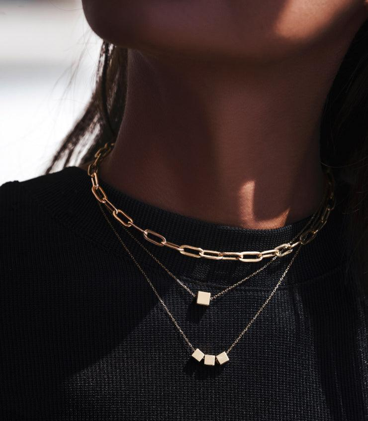 The Single Cube Necklace