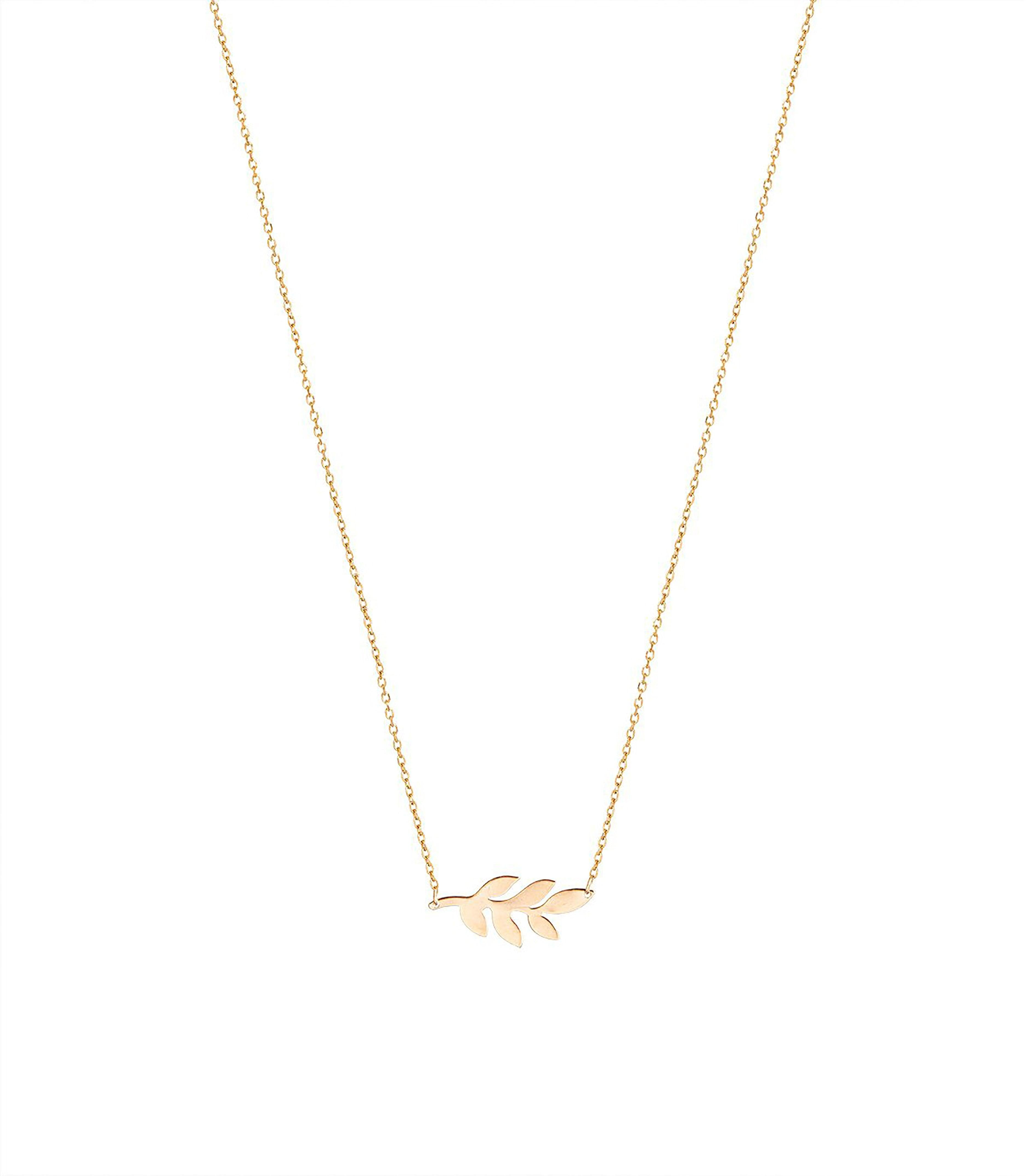 The Olive Leaf & Diamond Necklace