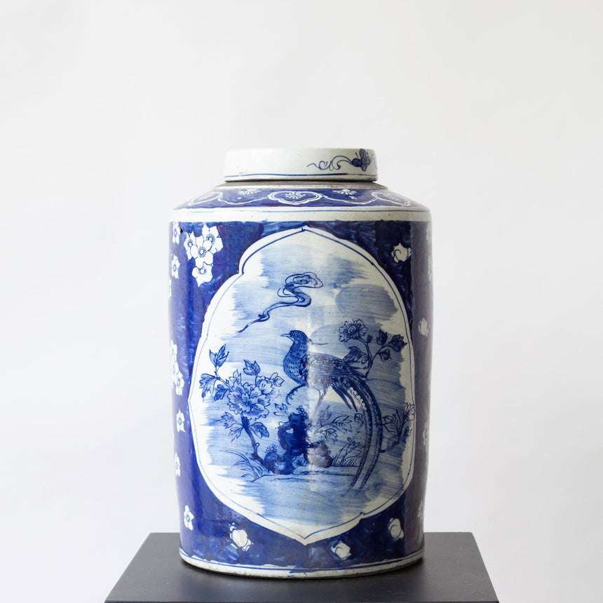 CHINESE VASE ROUND BIG WITH BIRD