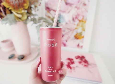 Rosé Bubbles in a Can