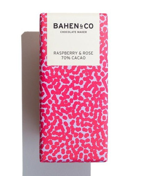 Bahen + Co Raspperry & Rose Chocolate