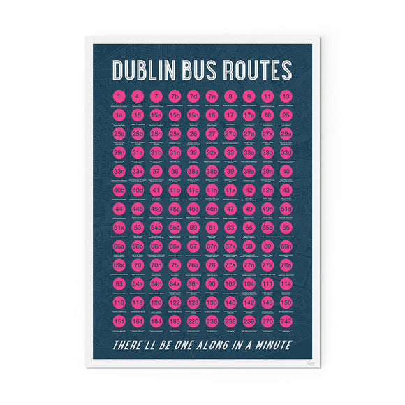 Dublin Bus Routes A3 Print