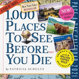 1000 Places To See Calendar 2021