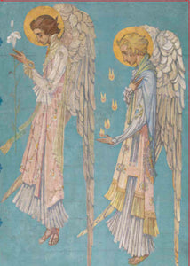 Two Winged Angels in Profile Christmas Card Pack