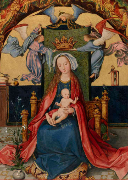 The Virgin and Child with Angels Christmas Card Pack