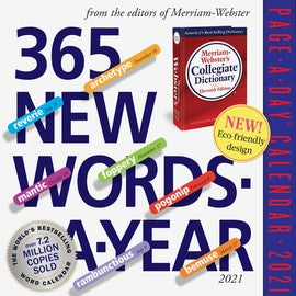 365 New Words a Year Calendar 2021