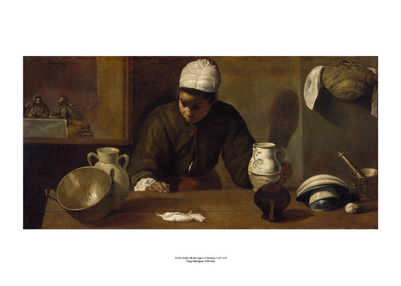 Kitchen Maid with the Supper at Emmaus Art Print