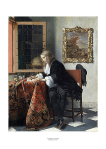 Man Writing a Letter Art Print