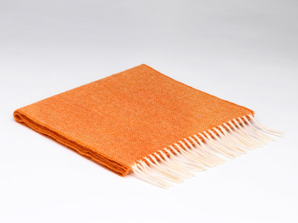 Orange McNutt Wool Scarf