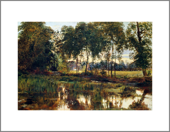 A View of the Rye Water near Leixlip Canvas Print