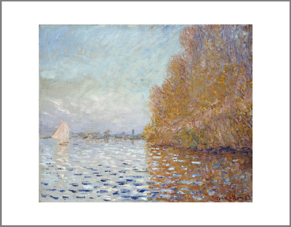 Argenteuil Basin with a Single Sailboat Canvas Print